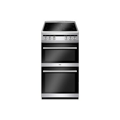 £299.97 • Buy Amica 50cm Double Cavity Electric Cooker With Ceramic Hob - Silver