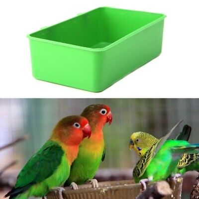 Food Water Plastic Bowl Cups Parrot Bathing Bird Pigeons Cage Sand Cup Feeding • 1.90£