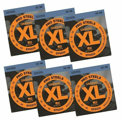 $ CDN77.14 • Buy 6x D'Addario EPS510 ProSteels Super Bright Light Electric Guitar Strings 10 - 46