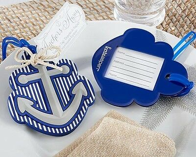 $ CDN52.50 • Buy 12 Anchor Away Nautical Themed Luggage Tag Destination Wedding Party Favor Gift