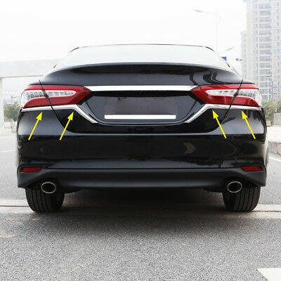 $19.62 • Buy For 2018 Toyota Camry L/LE/XLE Hybrid Tail Light Trunk Chrome Strips Accessories
