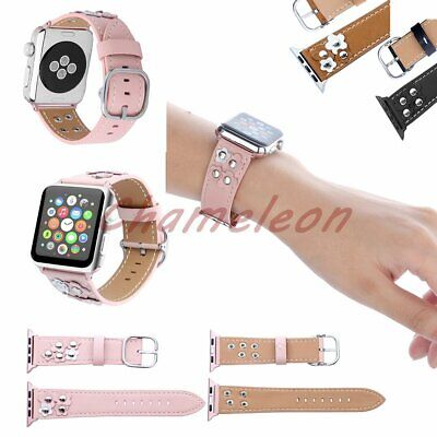 AU19.42 • Buy Nail Flower Genuine Leather Strap For Apple Watch Band 42mm Iwatch Series 3 2 1