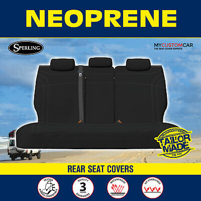 AU165 • Buy Mitsubishi Outlander (ZJ,ZK,ZL) 2012-on REAR (ROW2) Neoprene Black Seat Covers
