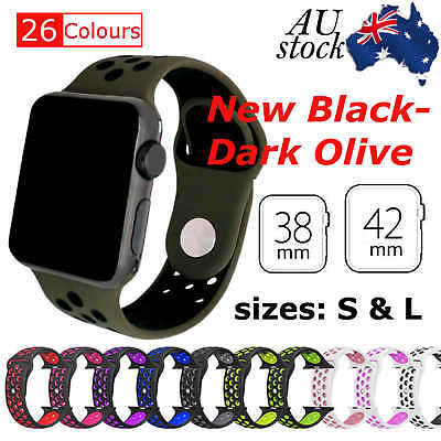 AU10.95 • Buy Sports Silicone Bracelet Strap Band For Apple Watch IWatch Series 3,2,1_38/42mm