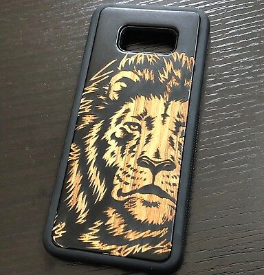 AU16.51 • Buy For Samsung Galaxy S8+ PLUS - Hybrid Real Wood Armor Black Case Cover Brown Lion