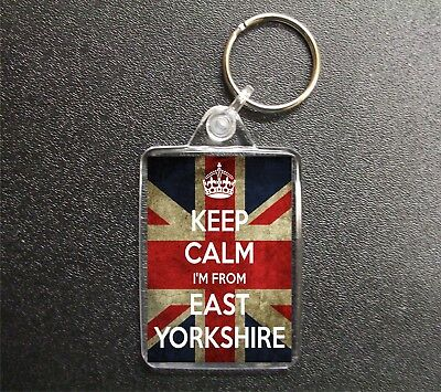 £2.85 • Buy Keep Calm I'm From East Yorkshire Union Jack Keyring County