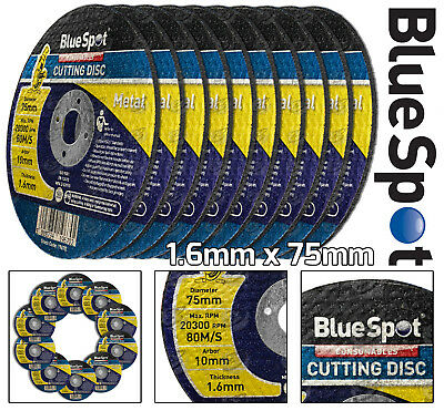 £5.90 • Buy 3  75mm X 1.6mm Metal Cutting Disc For Stainless Steel Air Cut Off Tool 10 Pack