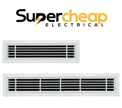 AU65 • Buy White Linear Removable Core Bar Grille Outlet Vent Ducted Air Conditioner Split