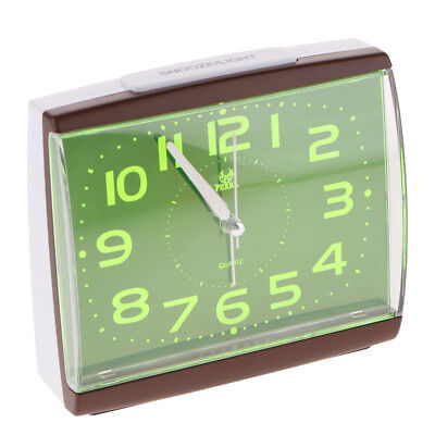 AU18.48 • Buy Non Ticking Analog Alarm Clock With Nightlight And Snooze Beep Alarm Clock