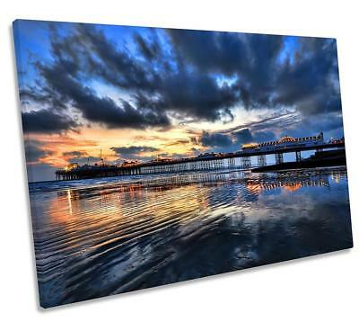 £11 • Buy Brighton Pier Sunset CANVAS WALL ART DECO LARGE READY TO HANG NIGHT All Siz