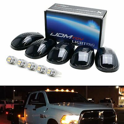 $34.19 • Buy 5pc Set Smoked Lens Truck Cab Roof Lights W/ Amber LED Bulbs For Truck SUV 4x4