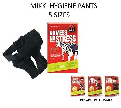 £4.79 • Buy Mikki Dog Hygiene Pants No Mess No Stress For Dogs Bitches On Heat In Season