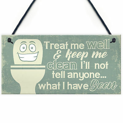 £3.99 • Buy Funny BATHROOM Signs Shabby Chic Door Plaque Sign For Toilet Bathroom The Loo