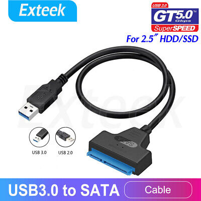 AU7.61 • Buy  USB 3.0 To SATA 2.5  Hard Drive HDD SSD Adapter Converter Cable 22Pin UASP AU