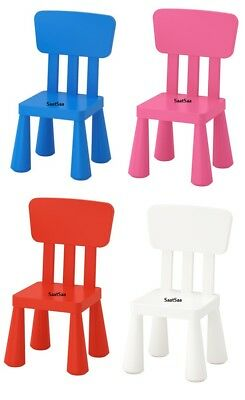 IKEA Mammut Kids Children's Plastic Chair Toddlers Furniture Indoor Outdoor Use • 19.99£