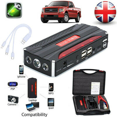 View Details BIUBLE 68800mAh Car Jump Starter Rescue Pack Booster Battery Charger Power Bank • 41.58£