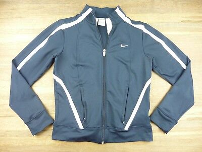 aa9a20579c15 Womens Size Small NIKE FitDry Navy Blue Athletic Jacket Full Zip • 21.77