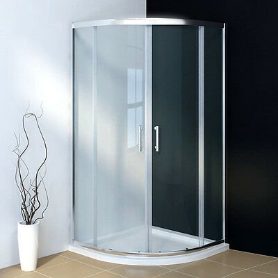 900x900mm Quadrant Shower Enclosure Corner Cubicle 6mm Tempered Glass Door • 100.19£