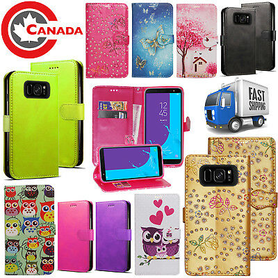 $ CDN5.99 • Buy For Samsung Galaxy S8 Card Holder Magnetic Flip Leather Wallet Stand Case Cover