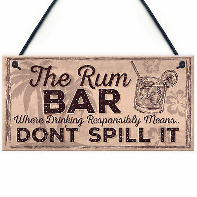 £3.99 • Buy Alcohol Signs For Garden Shed SummerHouse Rum Gift Kitchen Wall Plaque Bar Sign