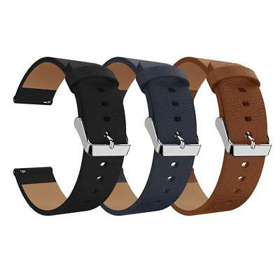 $ CDN11.78 • Buy Leather Wristband Bracelet Band Strap Belt For Fitbit Versa Sport Smart Watch