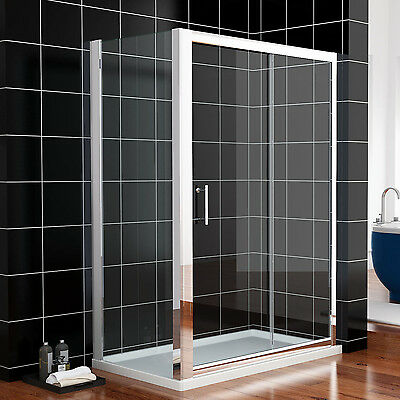 Sliding Shower Enclosure Cubicle Screen Glass Door And Side Panel FREE DELIVERY • 142.99£