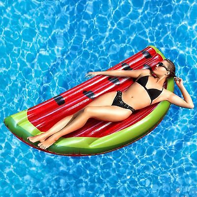 RexcoGiant Inflatable Watermelon Beach Float Lounger Swimming Pool Toy Mat Lilo • 9.99£