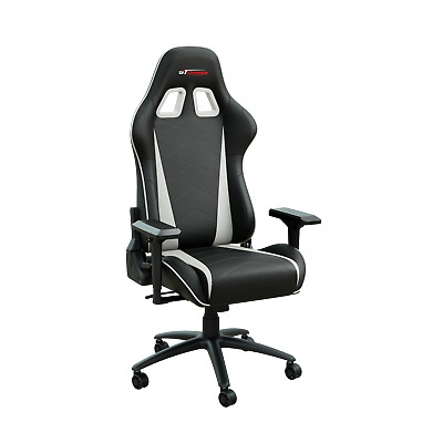 Gt Omega Pro Racing Gaming Office Chair Black Next White  Leather Esport Seat Ak • 179.95£