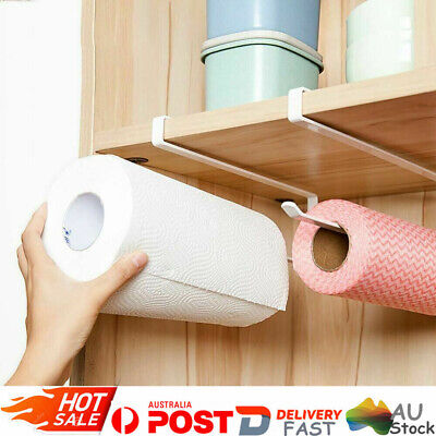 AU10.51 • Buy Under Cupboard Shelf Kitchen Toilet Paper Towel Rolls Holder Hanger Storage Rack
