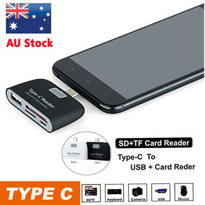 AU9.35 • Buy Type-C USB C To USB 2.0 Hub SD/MicroSD Card Reader Adapter
