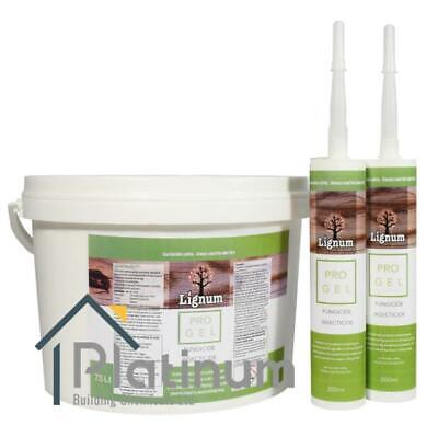 LIGNUM Pro Gel   Woodworm Killer & Dry Rot Wood Treatment Fungicide Insecticide • 21.25£