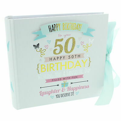 Signography Ladies 50th Birthday Gift Photo Album - Friend`s 50th Birthday Gift • 12.99£