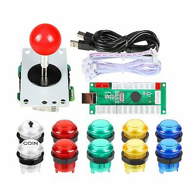 $23.99 • Buy Arcade Joystick DIY Kit Red Stick LED Illuminated Buttons Mame Raspberry Pi 2 3