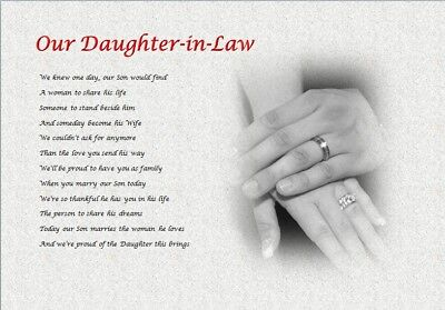 Daughter-in-Law GIFT (WEDDING DAY) - Personalised Gift • 3.59£