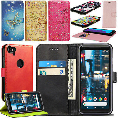 $ CDN6.49 • Buy For Google Pixel 2 / 2 XL Case, Wallet Flip Book Leather Card Case Cover Pouch
