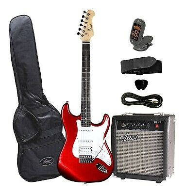 AU259 • Buy STHPK Electric Guitar With Amp And Accessories - Candy Apple Red