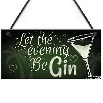 £3.99 • Buy Funny Gin Sign Alcohol Plaque Garden Shed Home Bar Kitchen Plaque Friend GIFTS