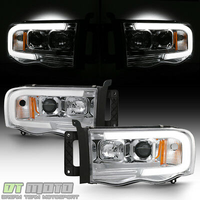 $208.99 • Buy 2002-2005 Dodge Ram 1500 03-05 2500 3500 LED Tube Projector Headlights Headlamps