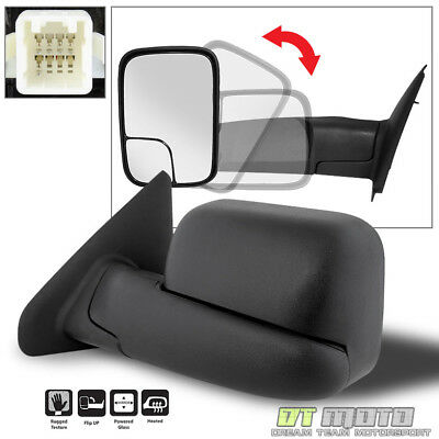 $59.99 • Buy 02-08 Dodge Ram 1500 03-09 2500 3500 Tow Flip Up POWER Heated Mirror Driver Side