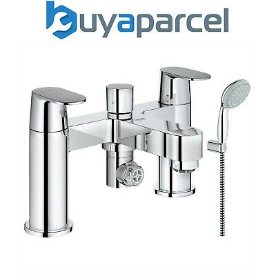 Grohe 25129 Eurosmart Cosmo Deck Mounted Bath Shower Mixer Tap 27799 Head Set • 184.99£