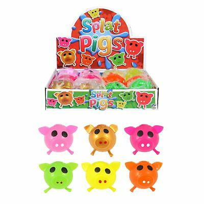 Sticky Pig Splat Ball Squishy Squeeze Stress Relief Toys • 1.79£