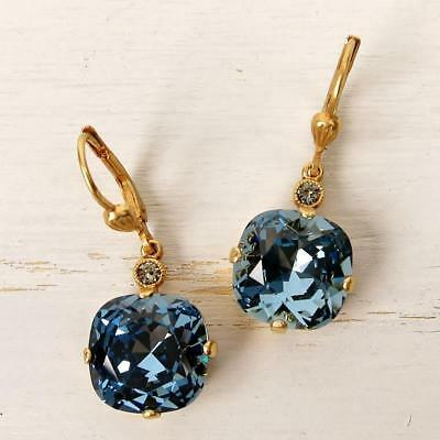 117855264 La Vie Parisienne Catherine Popesco Large Round Crystal Earrings In  Midnight • 46.95$