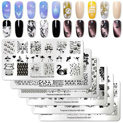 $0.99 • Buy NICOLE DIARY Nail Art Stamping Plates Fantastic Tropical Geometry Image Plate