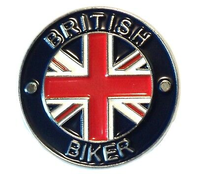 British Biker Classic 1960's Motorbike Motorcycle Rocker Metal Enamel Badge NEW • 2.69£