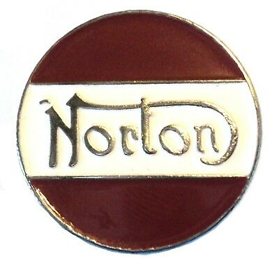 Norton Classic 60s British Biker Motorbike Ton Up Boy Metal TT Motorcycle Badge • 2.69£