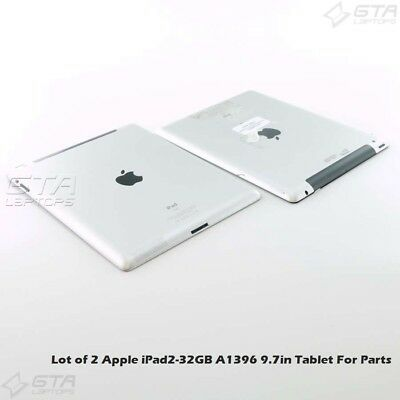 $ CDN42.99 • Buy Lot Of 2 Apple IPad2-32GB A1396 9.7in Tablet For Parts