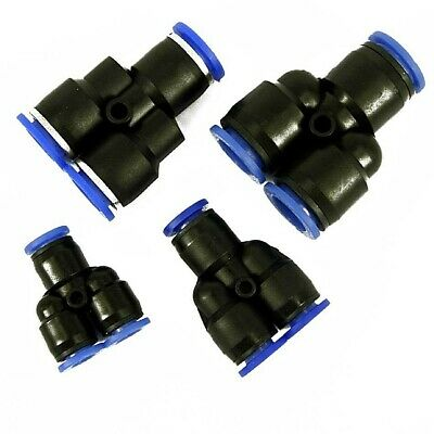 AU5.42 • Buy  Nylon Pneumatic Y  Fitting Hose Tube Inline Push Fit Connector Air Line Airline