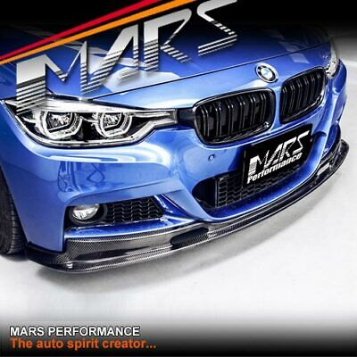 AU699.99 • Buy 3D Style Carbon Front Bumper Bar Lip Spoiler For BMW 3 Series F30 F31 M Sport