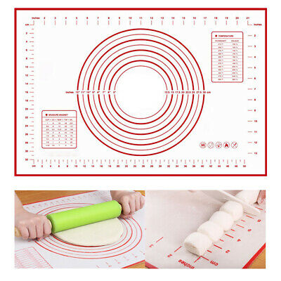 Silicone Baking Mat Pastry Bakeware Pad Cake Tray Oven Dough Rolling Sheet Mat • 4.49£
