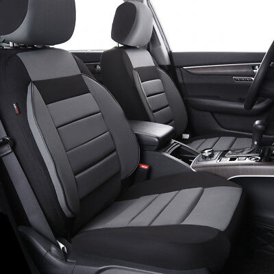 AU37.99 • Buy Universal 2 Front Car Seat Covers Black Grey Soft Sofa For Van TRUCK Nissan Ford